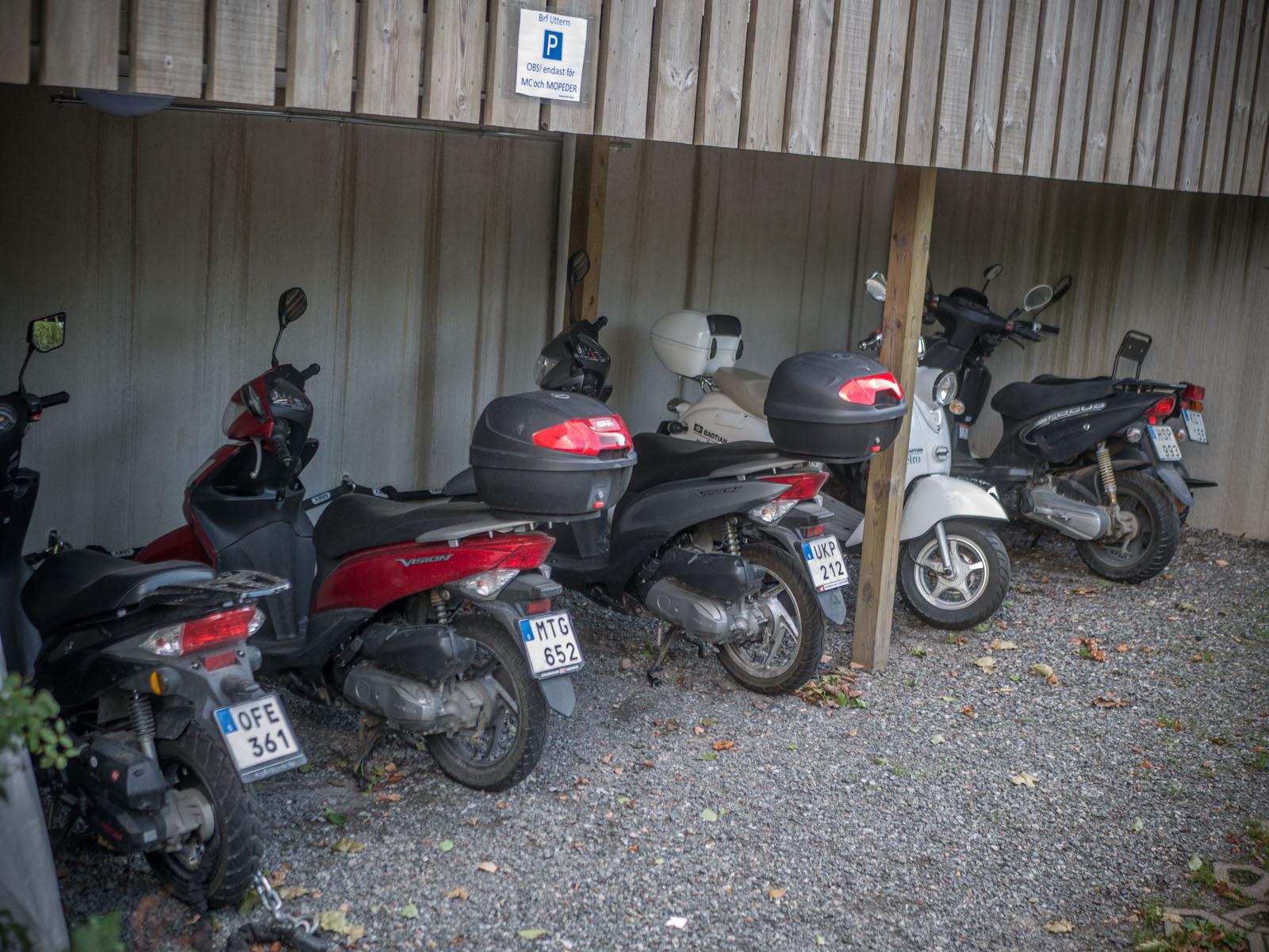 Motorcykel och mopedparkering